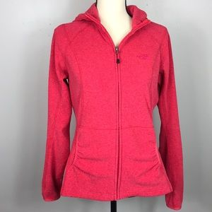 North Face Polartec Pink Terry Cloth Fitted Hoodie
